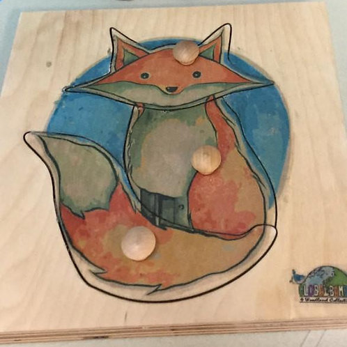 Fox puzzle ( Toddler 3 pieces) Woodland collection