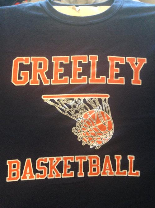 Greeley basketball cotton tee shirt