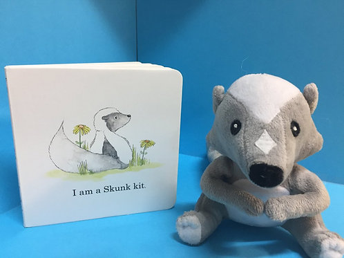 Skunk kit plush ( Book sold separately)