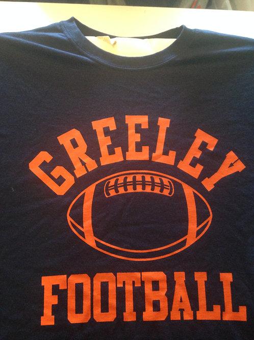 EZWear Greeley Football cotton tee shirt