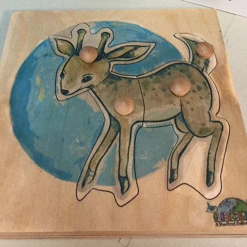 Fawn Puzzle ( toddler 4 pieces) Woodland Collection