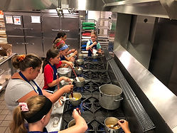 Students at Create-a-Cook Camp
