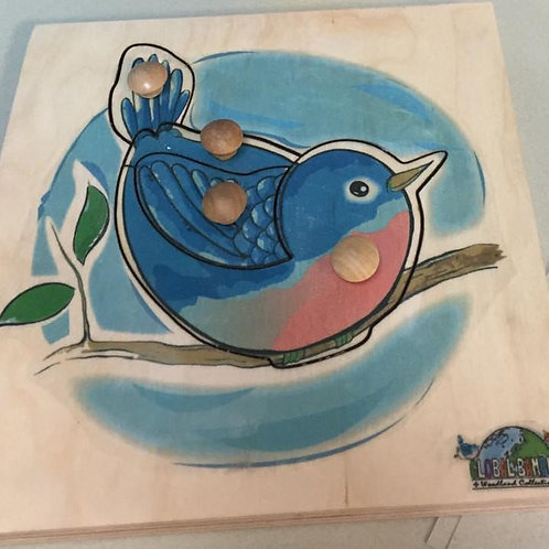 Bluebird Puzzle (4 Pieces)