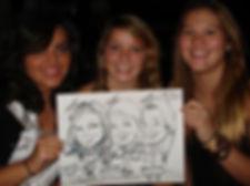 drawing at sweet 16 party Highland California