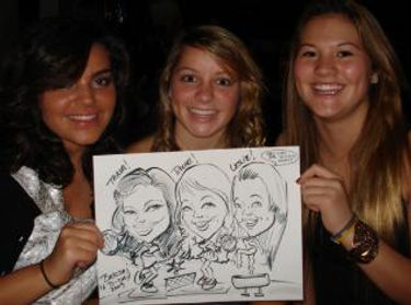 drawing at sweet 16 party Highland California