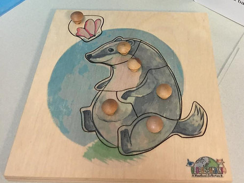 Badger puzzle (6 pieces)