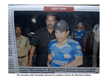 Took care of Sachin in Apollo Secunderab