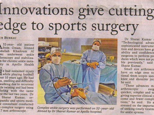 Innovations give cutting edge to sports surgery