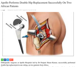 Single stage Bilateral Total Hip Replace