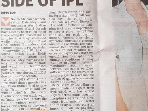 Served as IPL Mumbai Indians liaison doctor