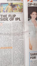 THE FLIP SIDE OF IPL DECCAN CHRONICLE