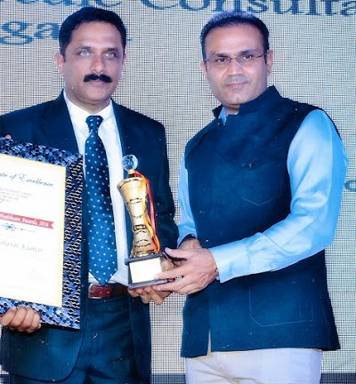 Healthcare Award from Virender Sehwag in