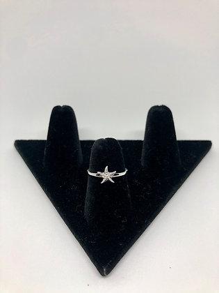 Sterling Silver Starfish Ring