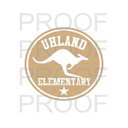 Uhland Elementary School Student - Jacket Design on Back