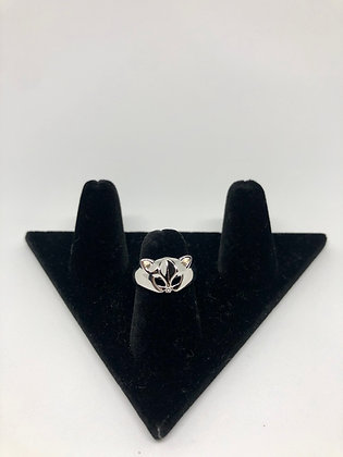 Sterling Silver Cat Mask Ring