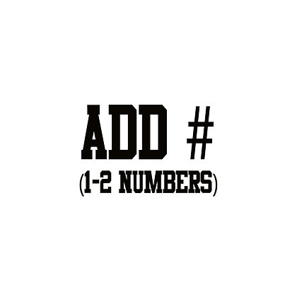 Add Number (Option for Parent Shirts)