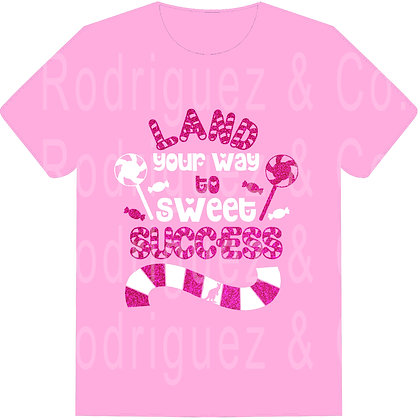 Land Your Way To Sweet Success -  Short Sleeve
