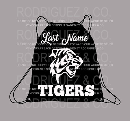 MMS Draw String Backpack with Name