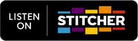 "Badge showing text ""Listen on Stitcher"""