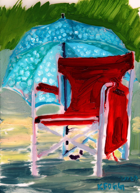 Polka Dots and Red Chair