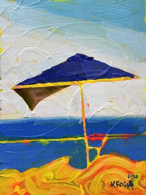 Yellow and Purple Umbrella