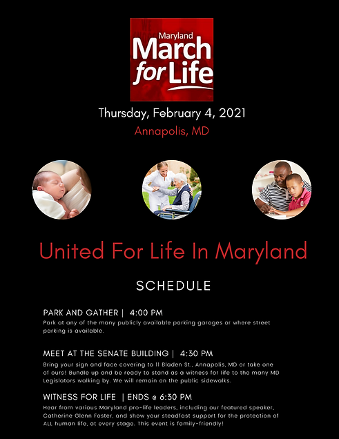 Flyer - 42nd Maryland March for Life