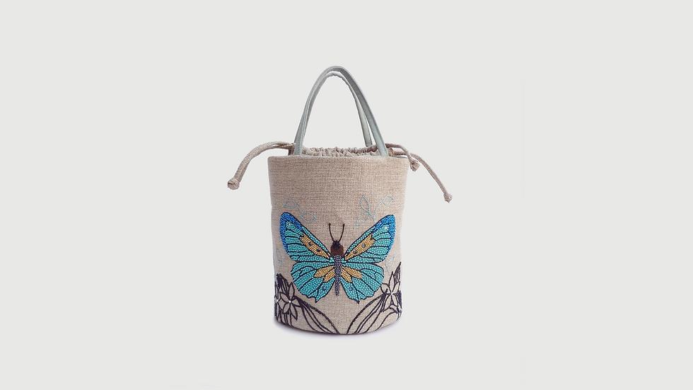 Bucket bag Mariposa Turquesa