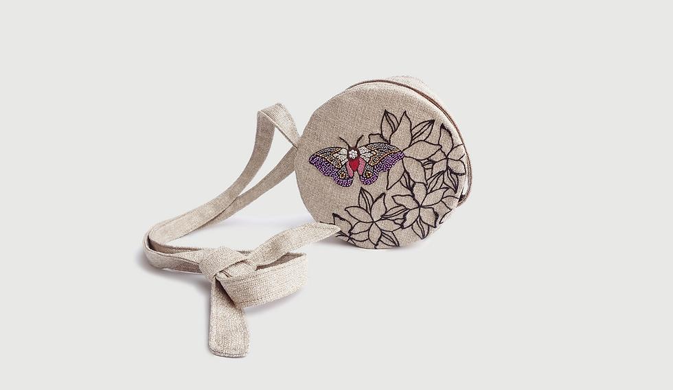 Fotos Producto Bolso redondo mariposa (1