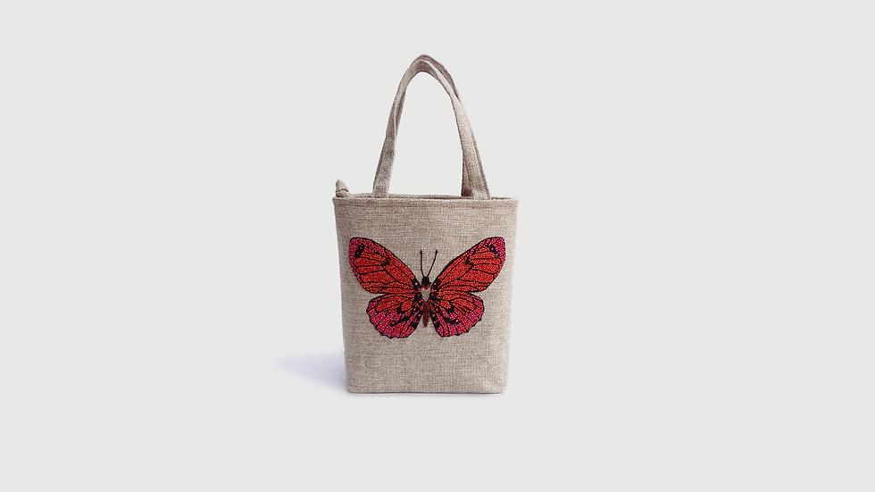 Mini Tote Mariposa Roja