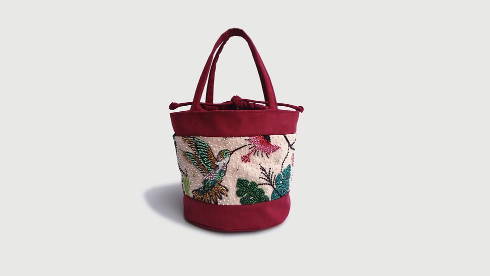Bucket Bag Colibrí en el Jardín Tropical