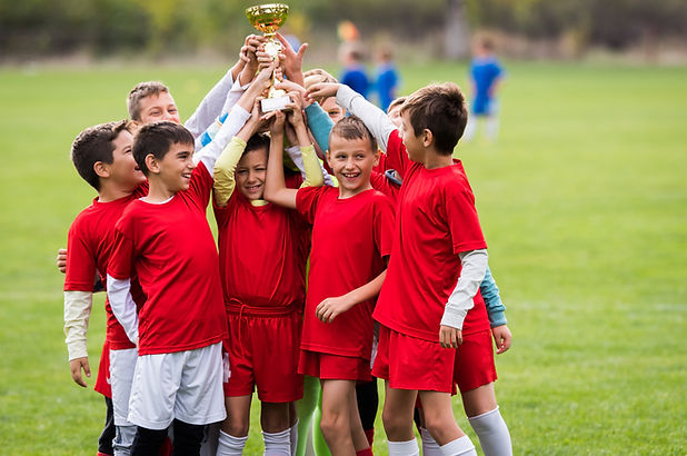 Kids soccer football - young children pl
