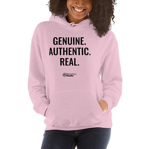 Genuine. Authentic. Real. Hoodie