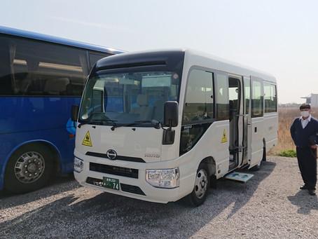 大島小学校用 スクールバス納車