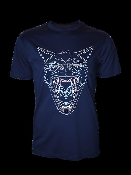 Navy Reflective Hyena T-Shirt