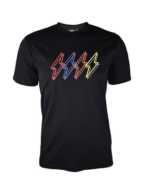 Black Reflective 4 Bolt T-Shirt