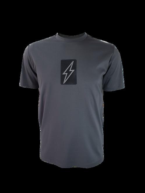 Steel Grey 3D Box Bolt T-Shirt