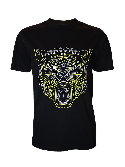 Black Reflective Tiger T-Shirt
