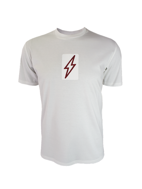White 3D Box Bolt T-Shirt