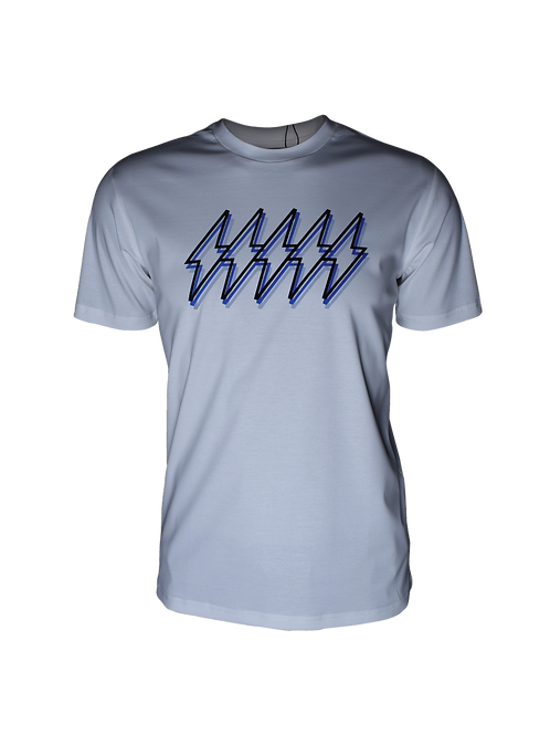 White Reflective 5 Bolt T-Shirt