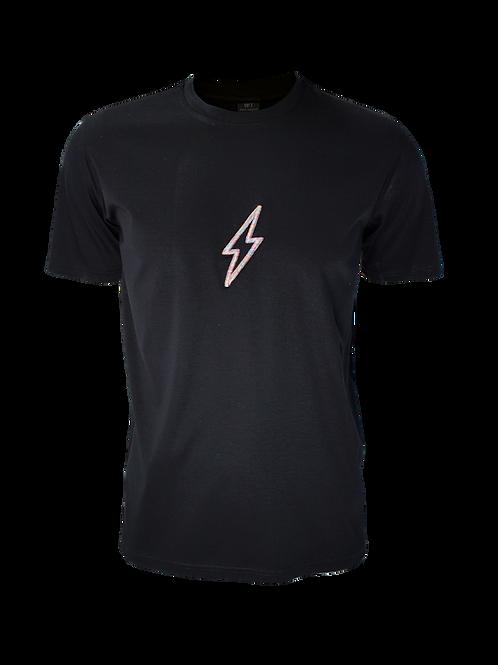 Black 3D Bolt T-Shirt