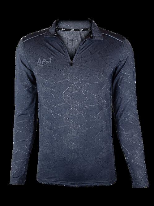 Grey Patterned 1/4 Zip