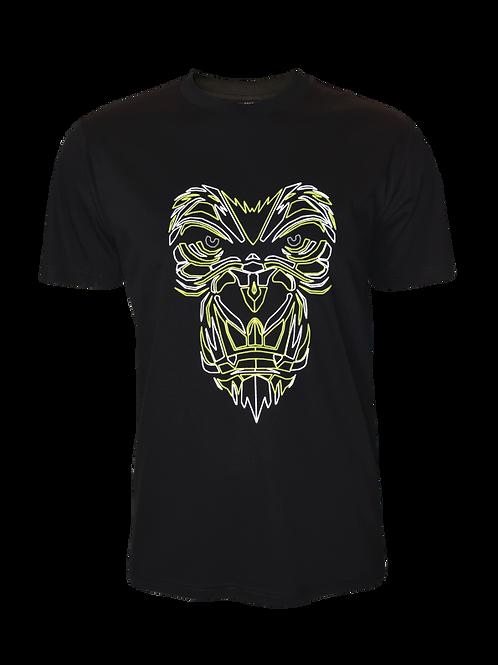 Black Reflective Gorilla T-Shirt (OG Neon)