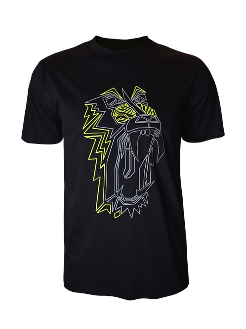 Kids Black Reflective Baboon T-Shirt (OG Neon)
