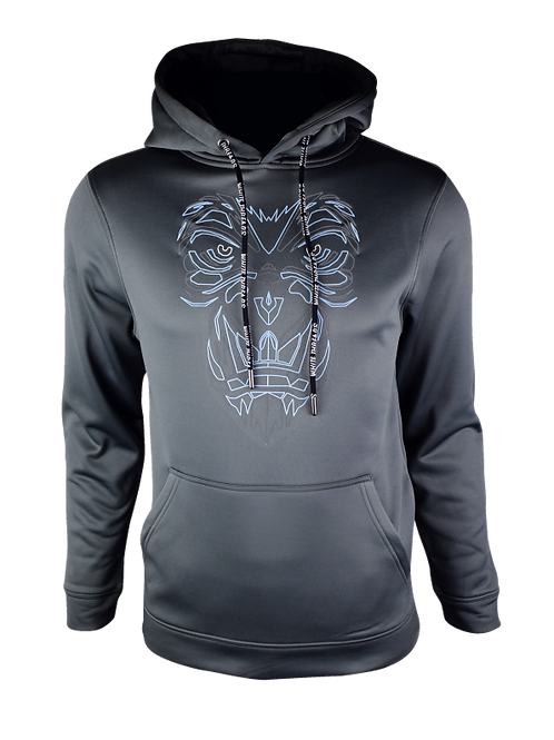 Grey Reflective Gorilla Hoodie