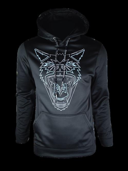 Black Reflective Hyena Hoodie