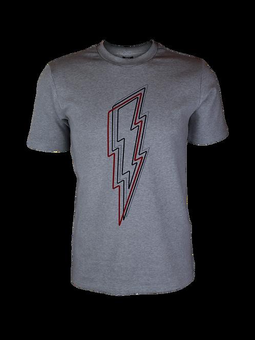 Grey Reflective Bolt T-Shirt