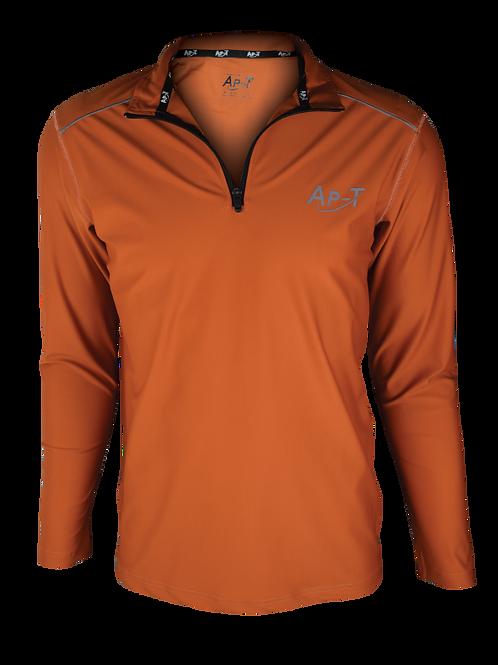 Pure Orange Long Sleeve 1/4 Zip