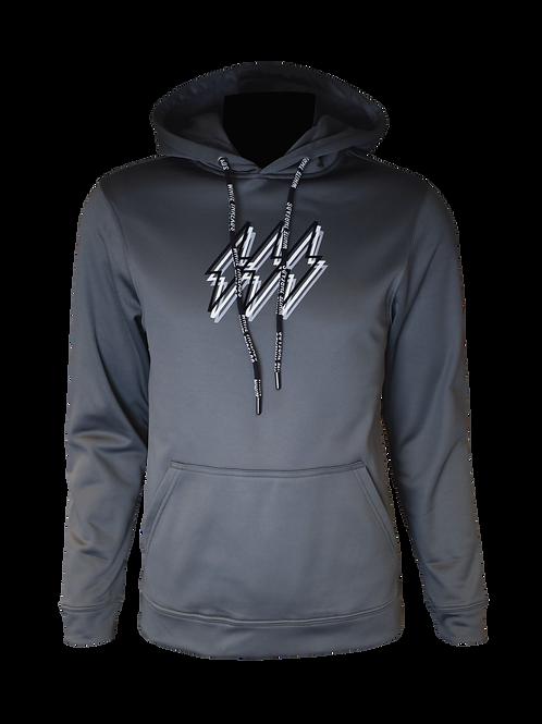 Grey Reflective Triple Bolt Hoodie