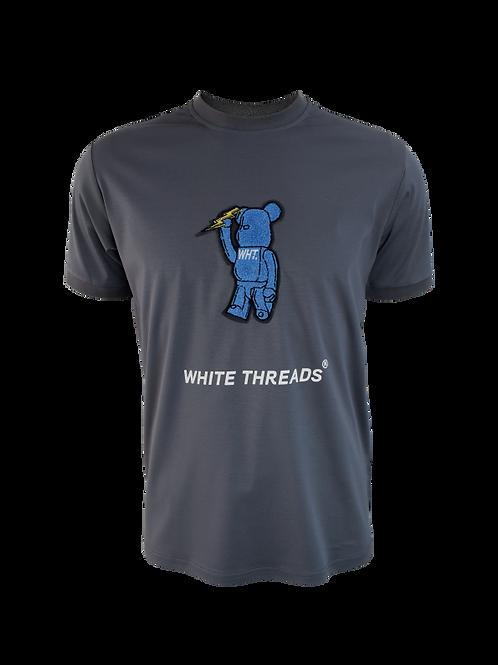 Steel Grey 3D Bear T-Shirt