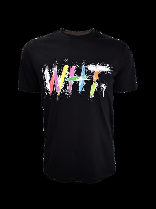 Black WHT Splatter T-Shirt